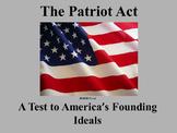 The Patriot Act Analysis
