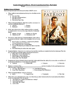 The Patriot Movie Quiz