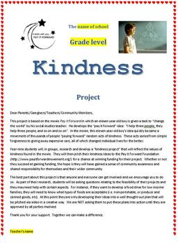 The Pay it Forward Kindness Project