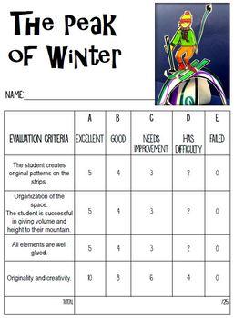 The Peak of Winter - Art Lesson Plan