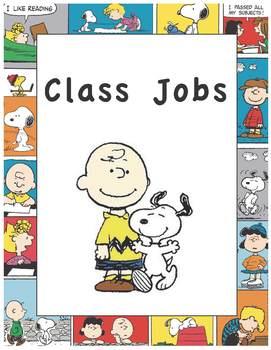 The Peanuts Classroom Jobs