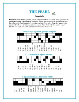 The Pearl: 10 Quotefall Puzzles—Students love these unique puzzles!