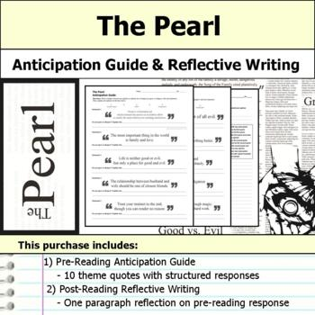 The Pearl - Anticipation Guide & Reflection Writing