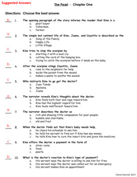 The Pearl By John Steinbeck Chapter Quizzes