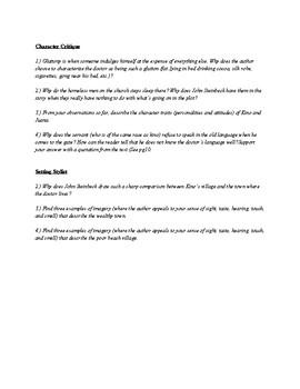 The Pearl Ch. 1 Literature Circles