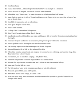 The Pearl Chapters 4-6 T/F Quiz and KEY