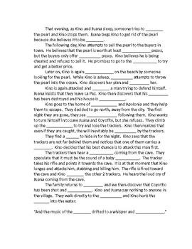 The Pearl Cloze Reading Summary