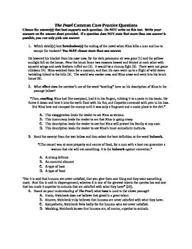 The Pearl Common Core Practice Test Questions