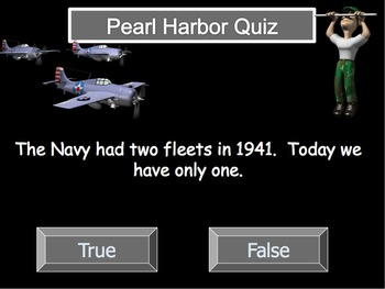 The Pearl Harbor Attack - Interactive Power Point {For Elementary Students}