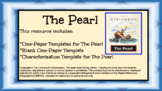 The Pearl (John Steinbeck) One Pagers and Character Chart