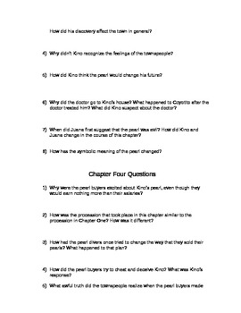 The Pearl Study Guide Questions