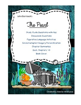The Pearl - Study Questions, foldables, Literary Terms, Di