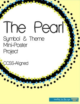 The Pearl Symbol/Theme Mini-Poster Project! Fun and Simple!