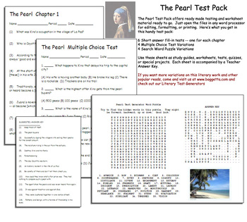 The Pearl Test Pack by Chapters Steinbeck