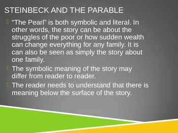 The Pearl by John Steinbeck Intro Powerpoint