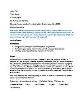The Pearl by John Steinbeck Middle School lesson plan