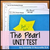 The Pearl by John Steinbeck Editable Unit Test