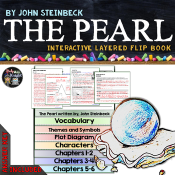 THE PEARL BY JOHN STEINBECK NOVEL STUDY LITERATURE GUIDE FLIP BOOK