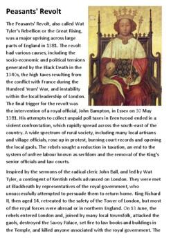 The Peasants Revolt Handout