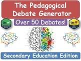 The Pedagogical Debate Generator! [Secondary Teacher Training, NQT , RQT, PGCE]