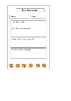 The Peer Assessment Hamburger