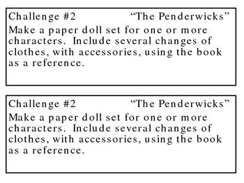 """""""The Penderwicks"""", Challenges to Accompany the Book"""