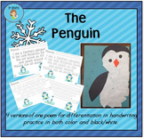 """The Penguin"" Handwriting Practice"