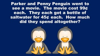 The Penguins' Palace - A Money Problem Solving PowerPoint Game