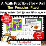 3rd Grade Math Fraction Story Unit Plus TPT Digital Overlay