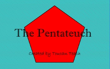 The Pentateuch SMARTBoard Activity