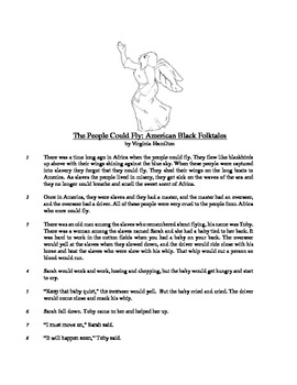 The People Could Fly - Literary Text Test Prep