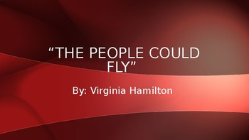 The People Could Fly Vocabulary