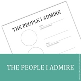 The People I Admire - printable
