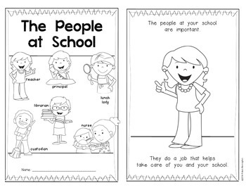 The People at School {Back to School Reader} for Kindergarten & First Grade