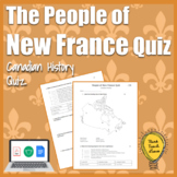 The People of New France Quiz