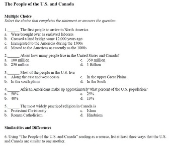 The People of the U.S. and Canada