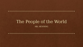 The People of the World
