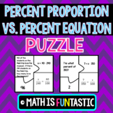 The Percent Proportion vs. The Percent Equation Puzzle