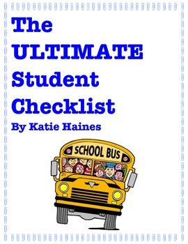 The ULTIMATE Student Checklist