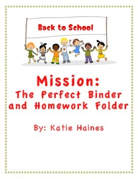 The Perfect Binder and Homework Folder System