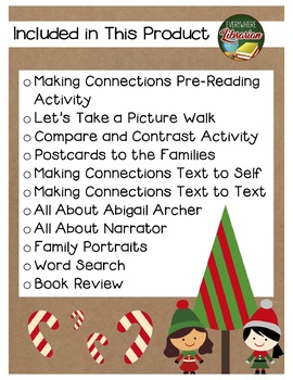The Perfect Christmas by Eileen Spinelli 11 Book Extension Activities NO PREP