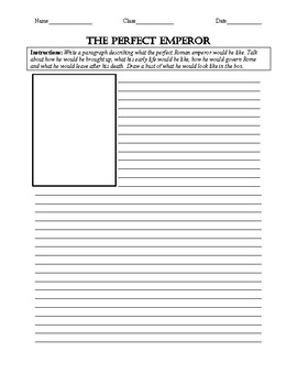 The Perfect Emperor Worksheet