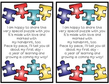 The Perfect Fit [A Puzzle/Poem Keepsake for the First Day of School]