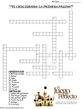 The Perfect Game Movie Guide in Spanish and English - El Juego Perfecto