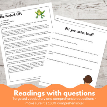 The Perfect Gift - a Comprehensible Input lesson for English Language learners