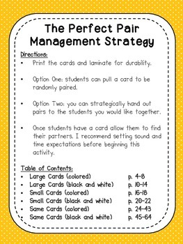 The Perfect Pair: Management Strategy