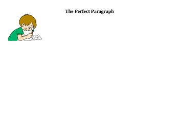 The Perfect Paragraph Graphic Organizer
