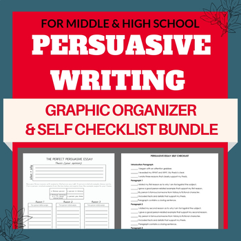 The Perfect Persuasive Essay Graphic Organizer
