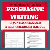 PERSUASIVE WRITING GRAPHIC ORGANIZER - WITH SELF CHECKLIST