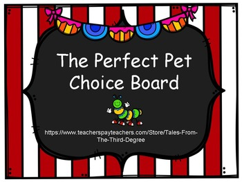 The Perfect Pet Choice Board